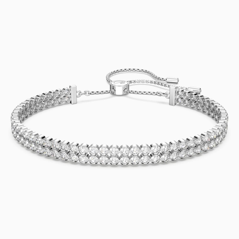 Swarovski Subtle Bracelet, White, Rhodium plated