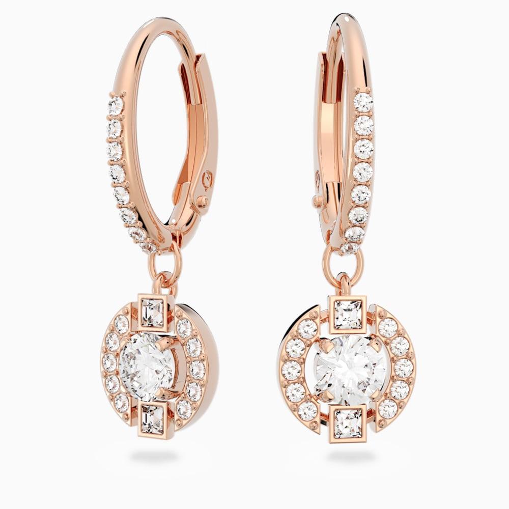 Swarovski Sparkling Dance Clover Pierced Earrings, Pink