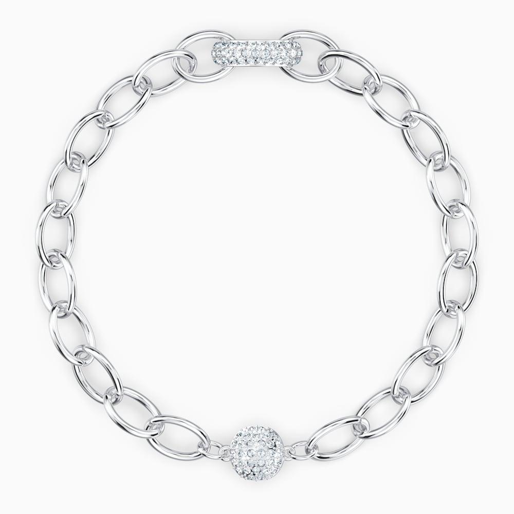 Bracelet The Elements Chain, blanc, métal rhodié