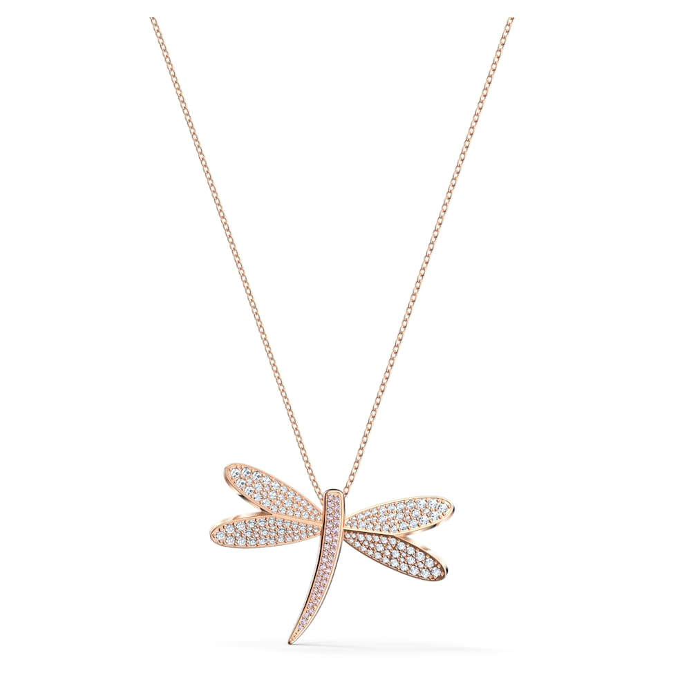 Magic Elf Bird fly Zen Quatz pink gold-plated flower box and chain offered EARRING TO OFFERT from 60 euros purchase
