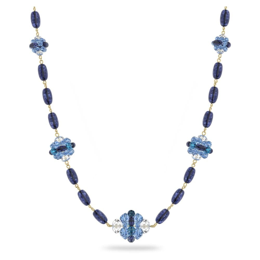 Somnia necklace, Blue, Gold-tone plated
