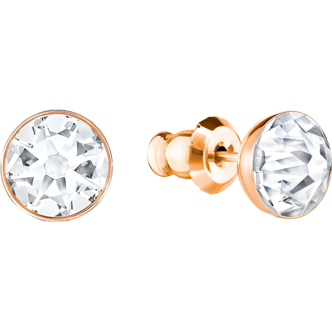 Forward Pierced Earring Jackets, White, Rose Gold Plating