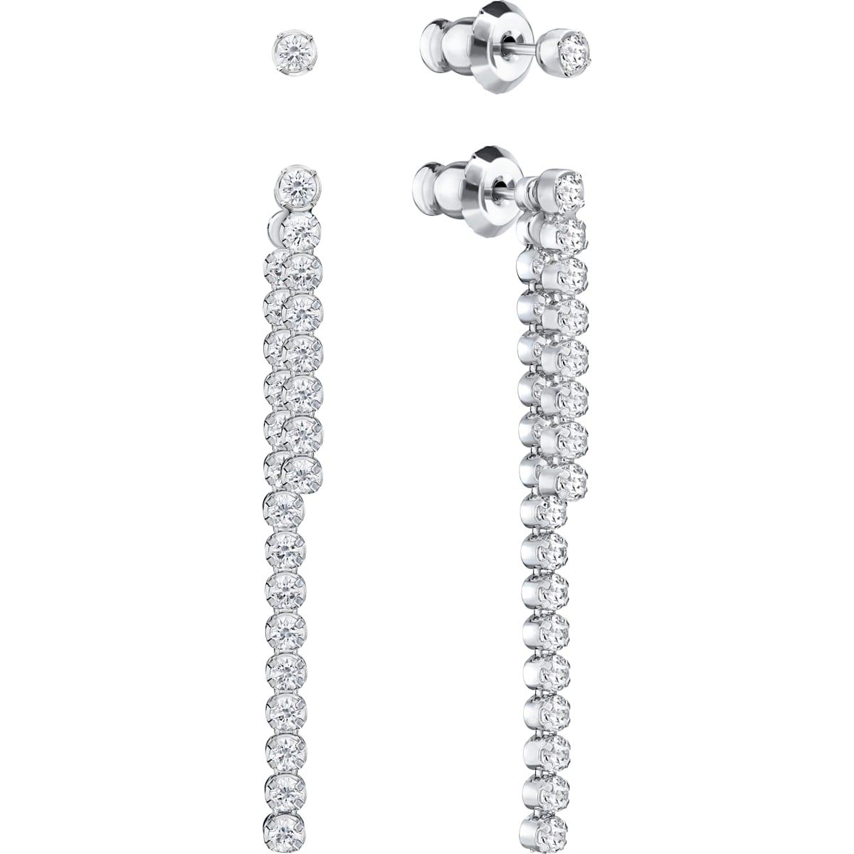 49527672c81ba Subtle Pierced Earring Jackets, White, Rhodium Plating