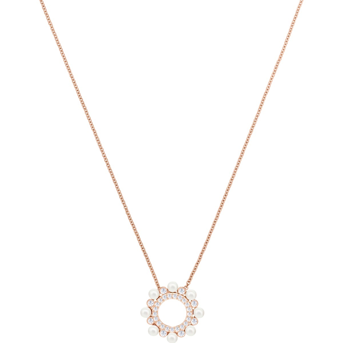 a18f3c540da4f Major Pendant, White, Rose-gold tone plated
