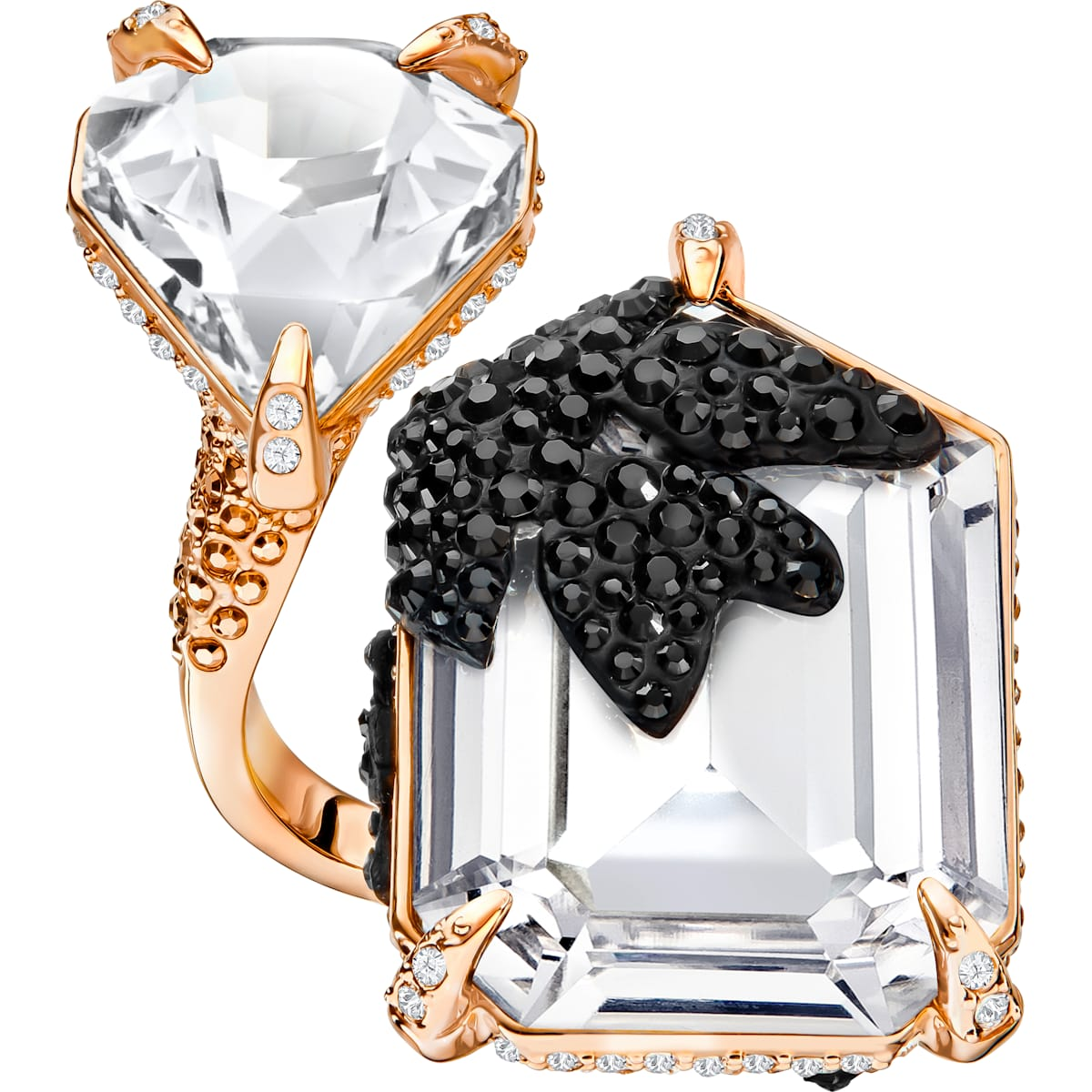 Manor Cocktail Ring, mehrfarbig, Rosé vergoldet
