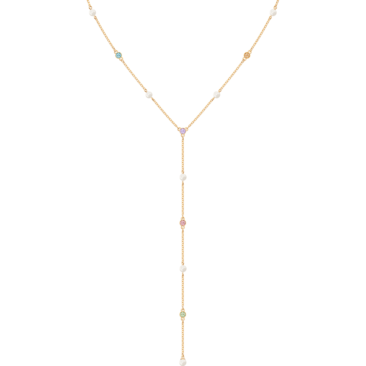 c0df225787853 No Regrets Y Necklace, Multi-colored, Gold-tone plated