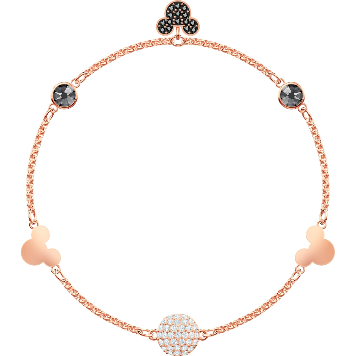 1ee7e4421510f Swarovski Remix Collection Mickey Strand, Multi-coloured, Rose-gold tone  plated