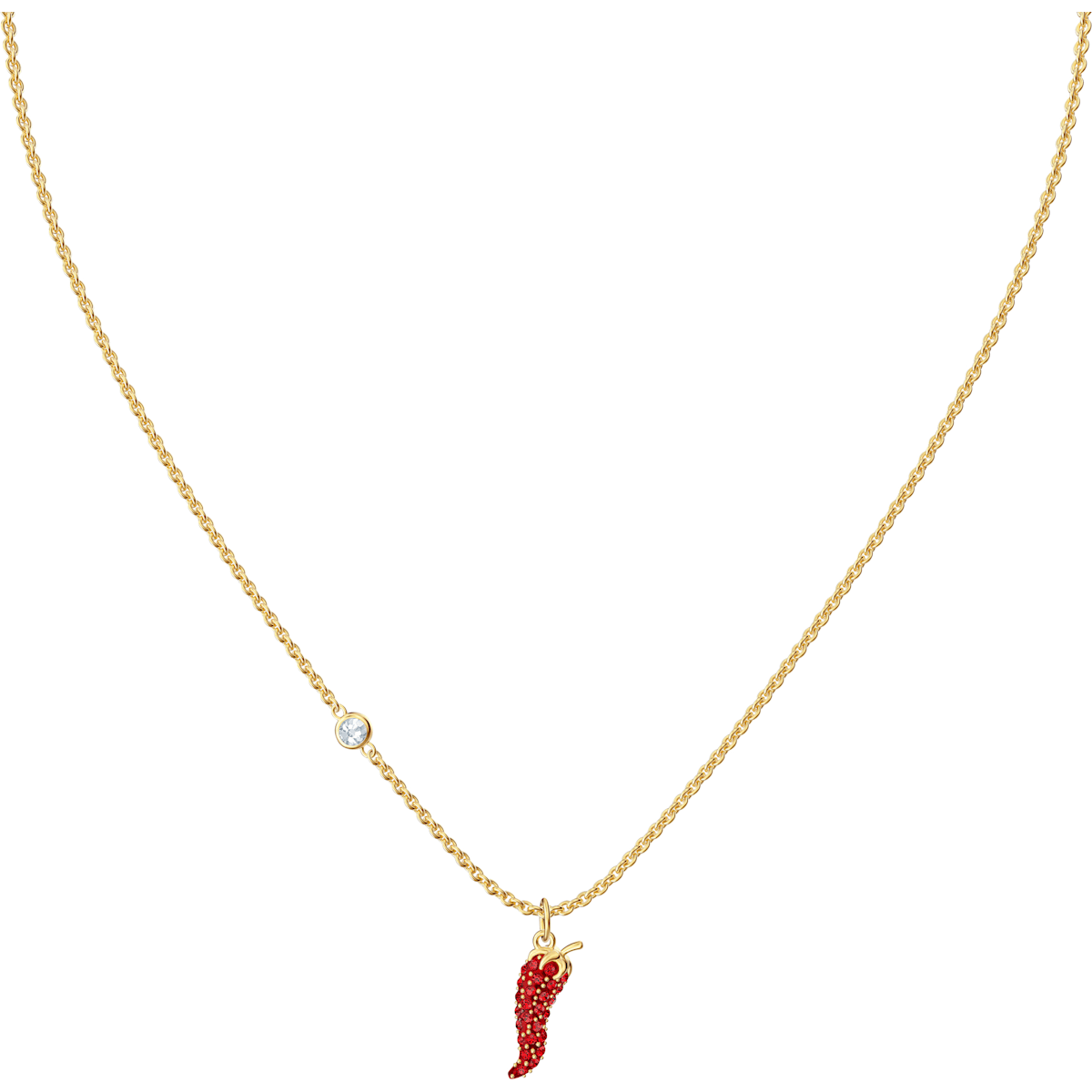 Lisabel Pepper Pendant, Red, Gold-tone plated