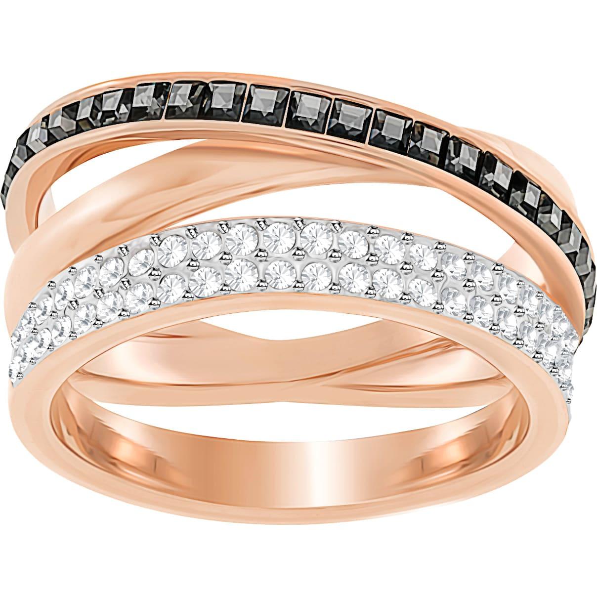 Hero Ring, grau, Rosé vergoldet
