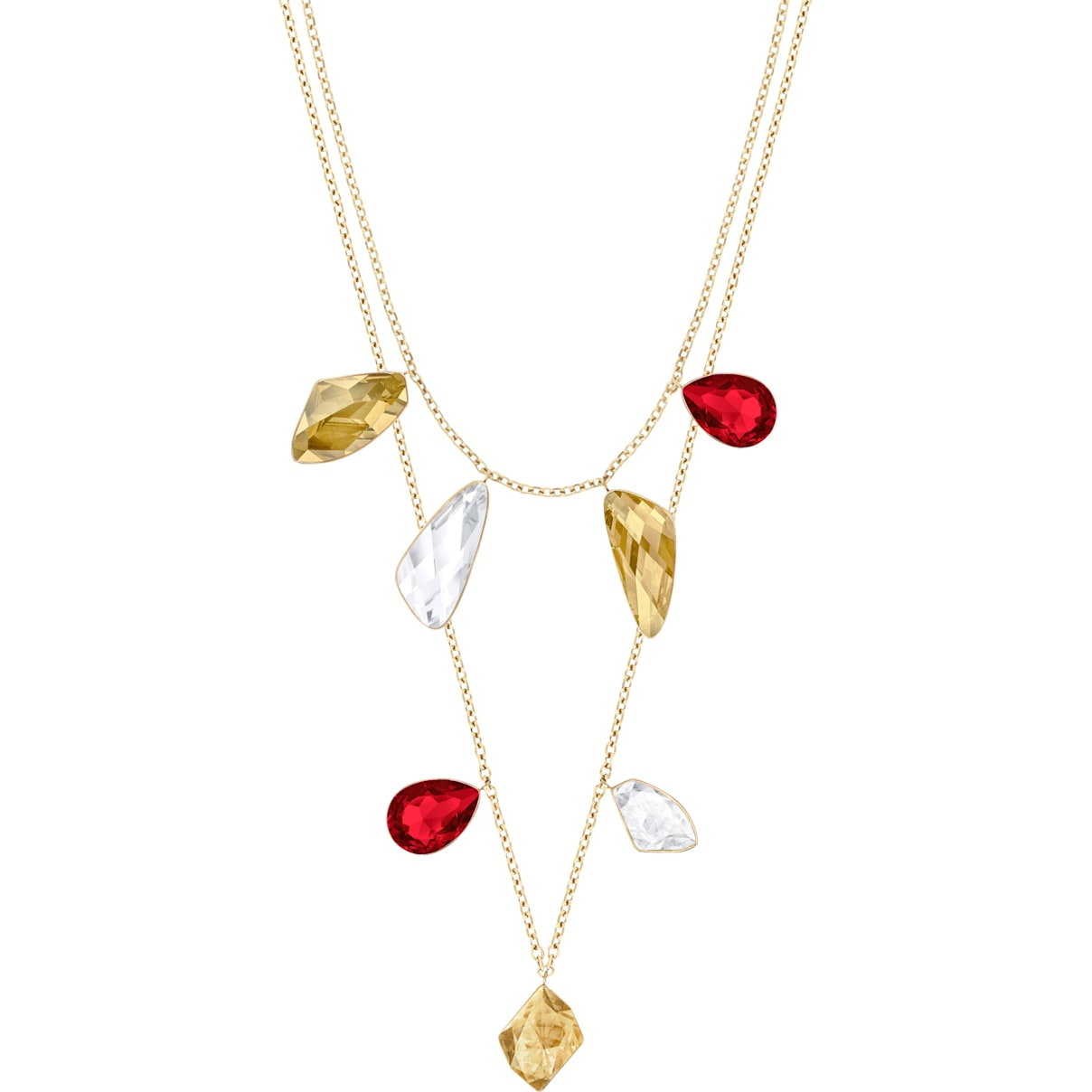Prisma Vielseitige Halskette, mehrfarbig, Vergoldet