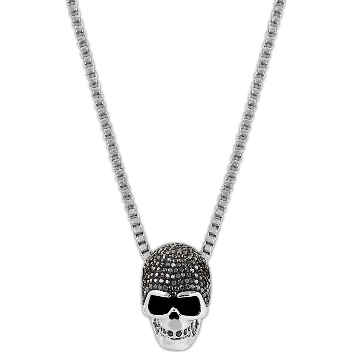 Swarovski Taddeo Skull Pendant, Black, Mixed metal finish