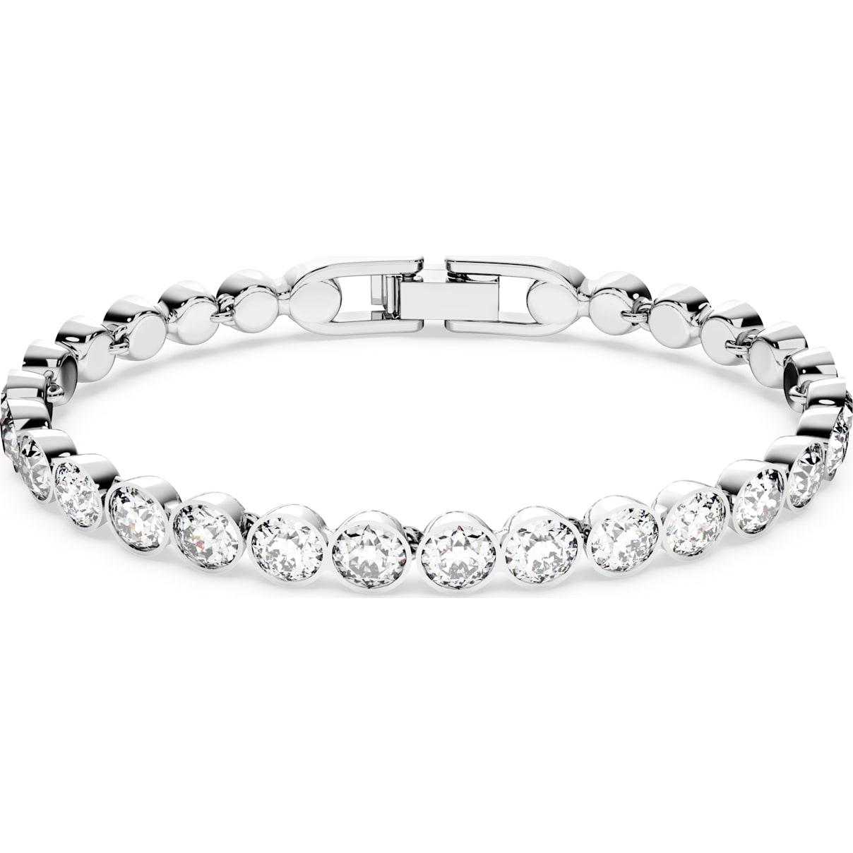 Swarovski Tennis Bracelet, White, Rhodium plated
