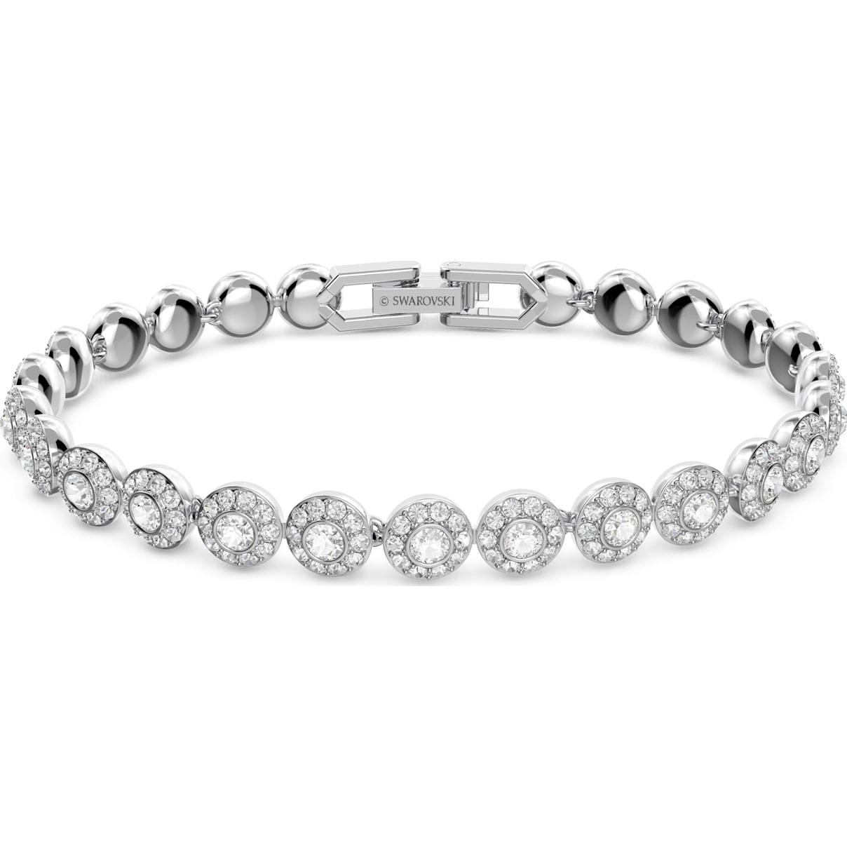 Swarovski Angelic Bracelet, White, Rhodium plated
