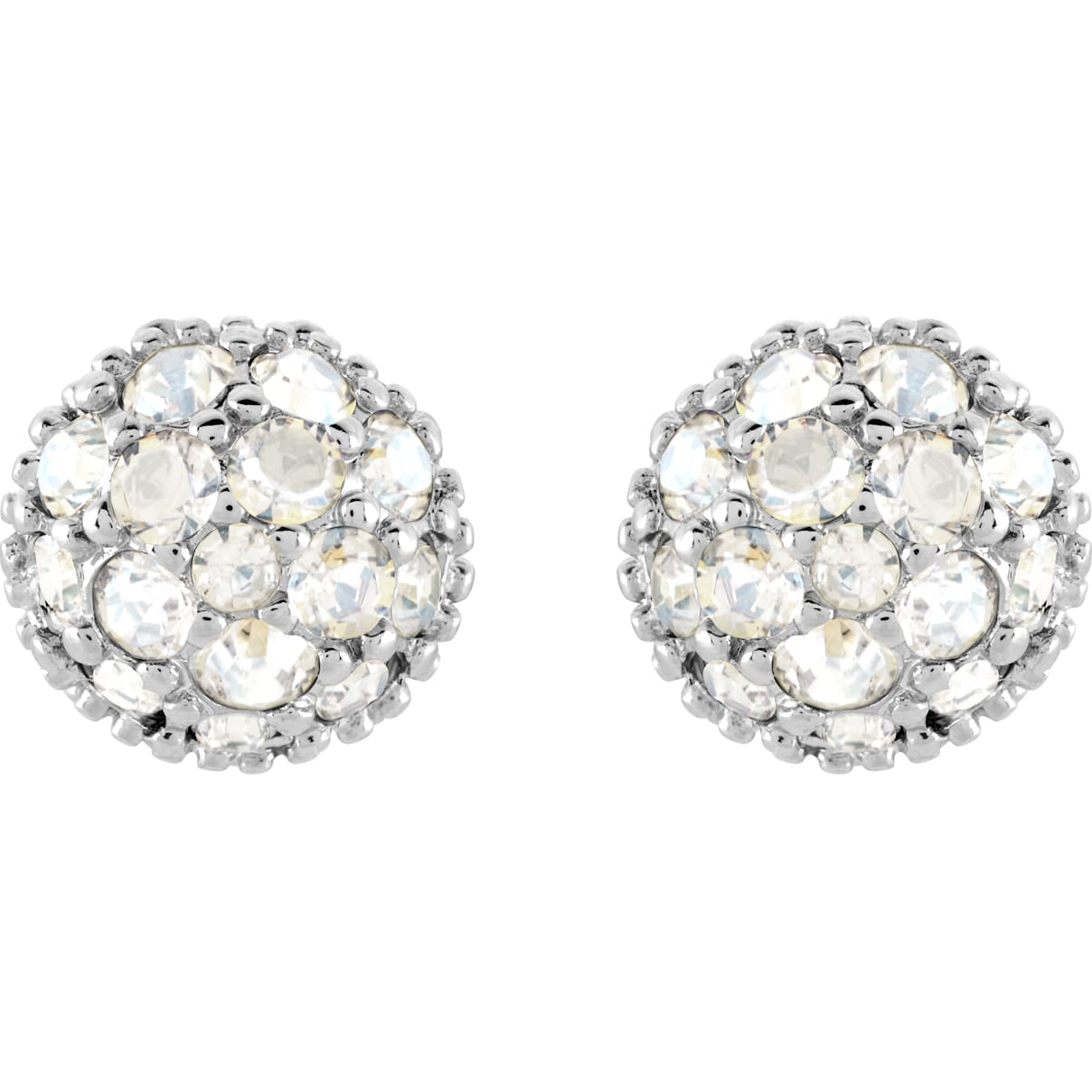 Swarovski Euphoria Pierced Earrings, White, Rhodium plated