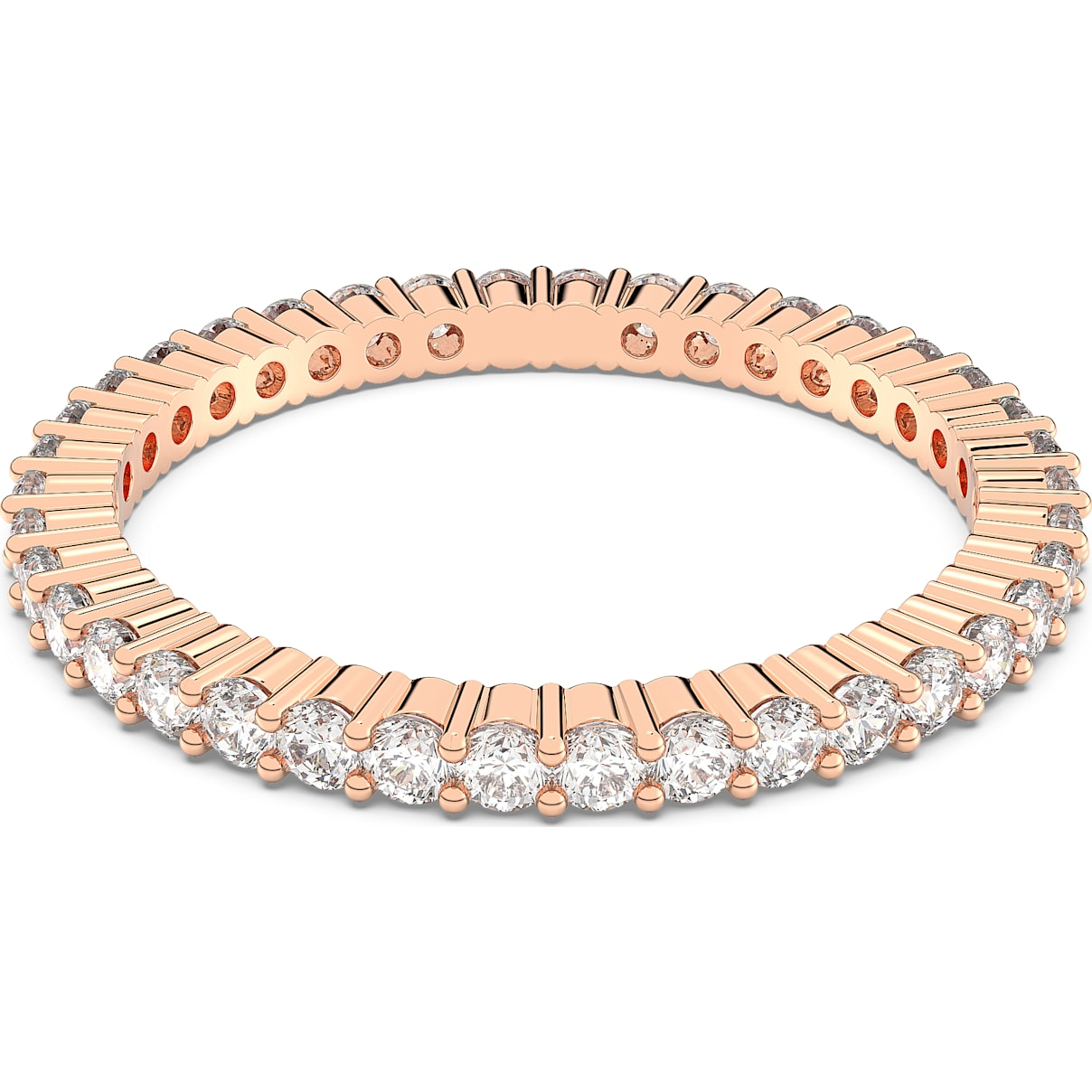 Vittore Ring, weiss, Rosé vergoldet