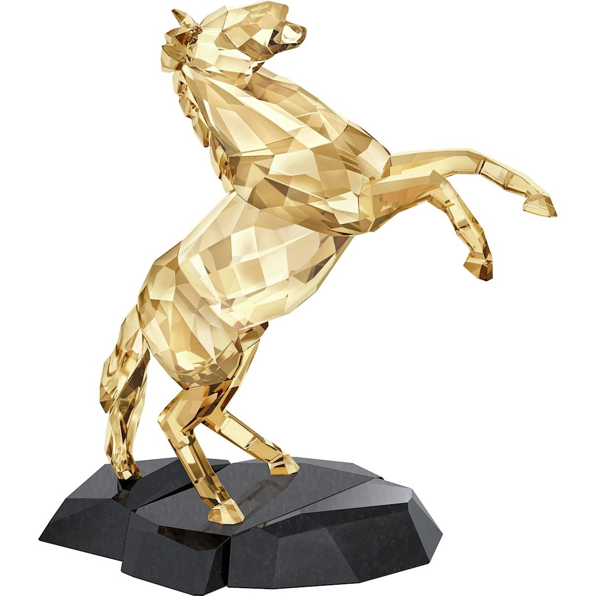Swarovski Stallion, Gold Tone