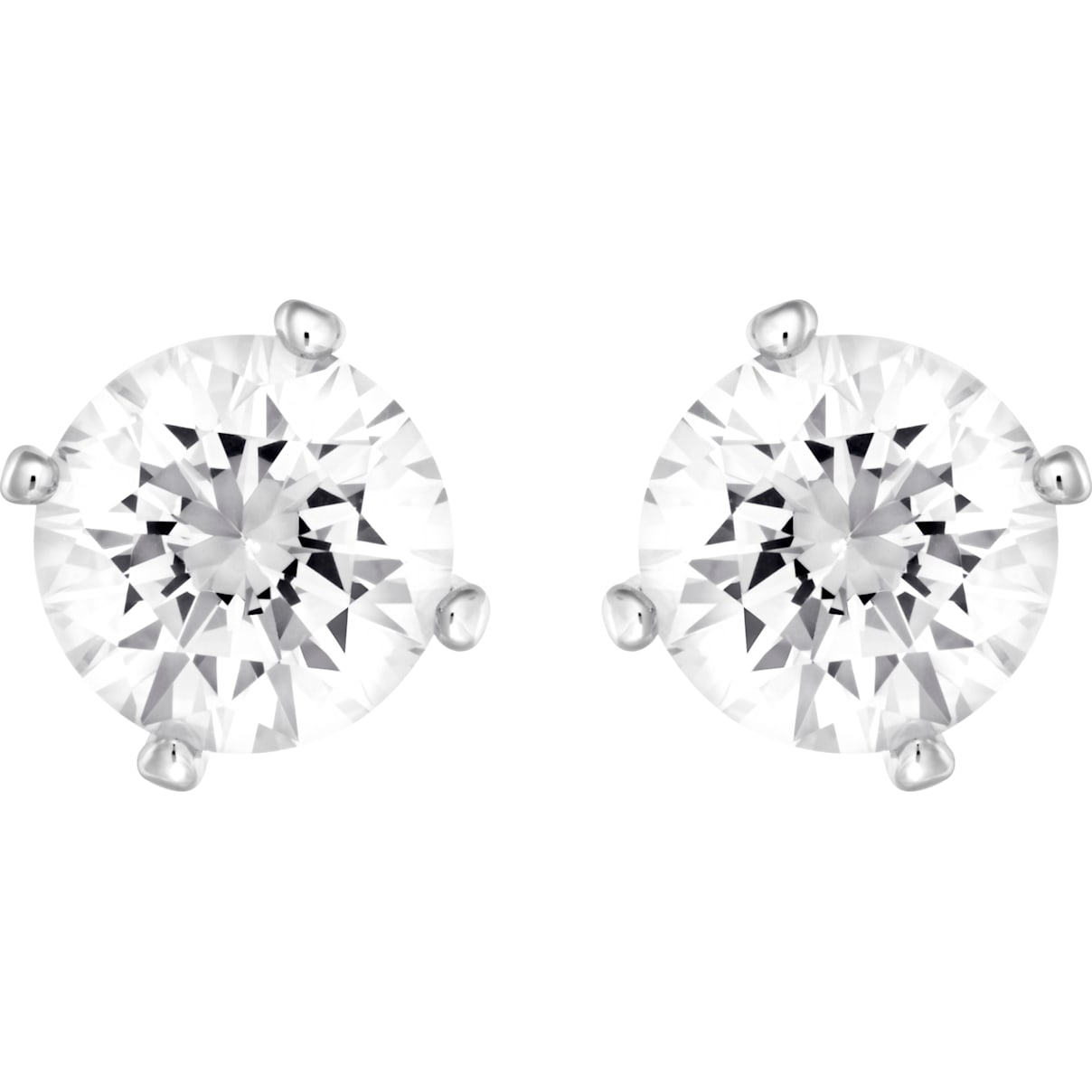 Swarovski Attract Pearl Pierced Earrings, White, Rhodium plated