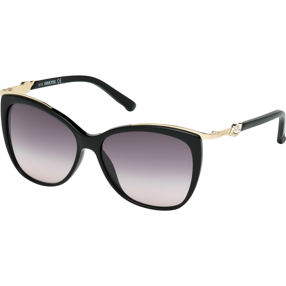 Swarovski Festive Sunglasses, SK0104-F 01B, Black