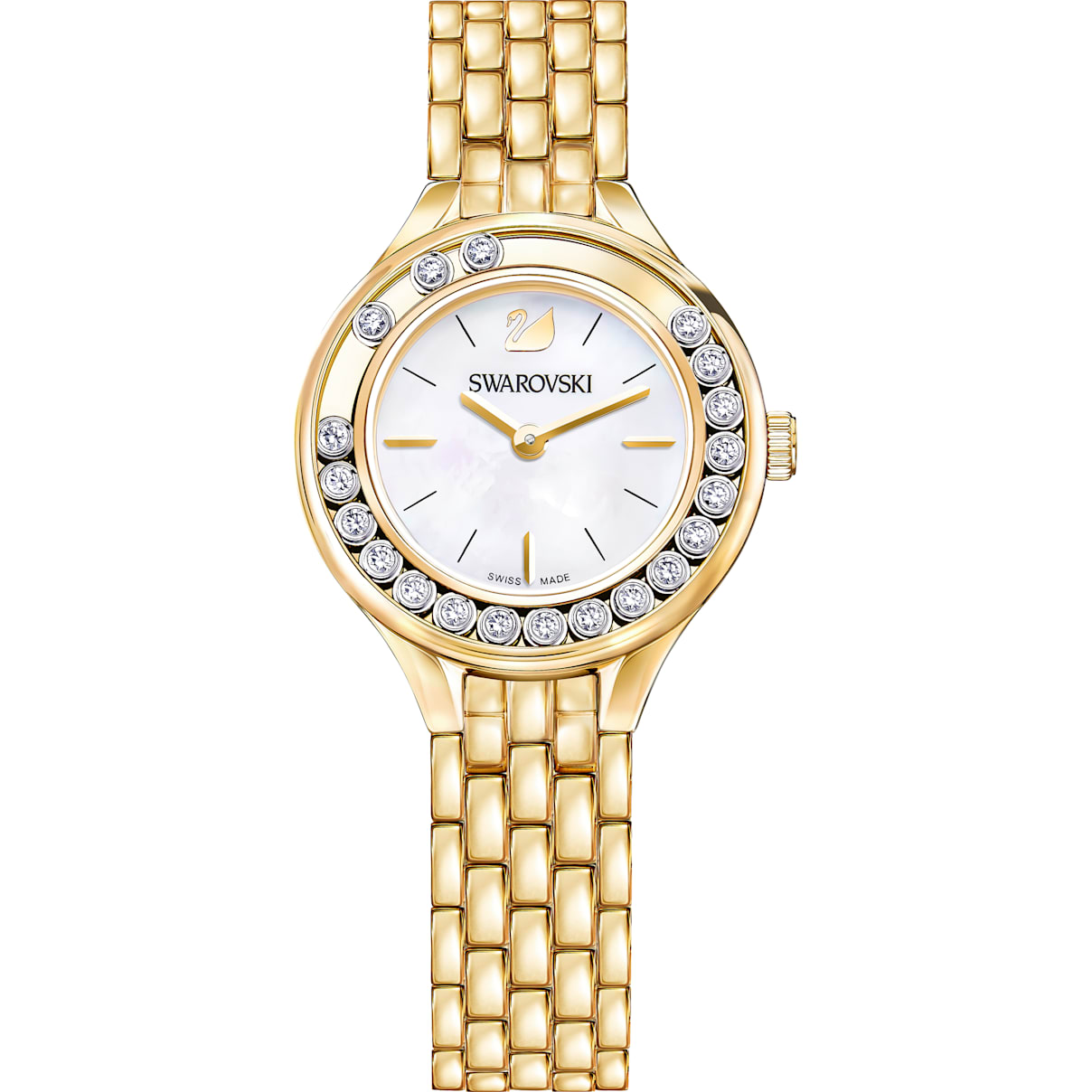 Swarovski Lovely Crystals Watch, Metal bracelet, Gold-tone PVD