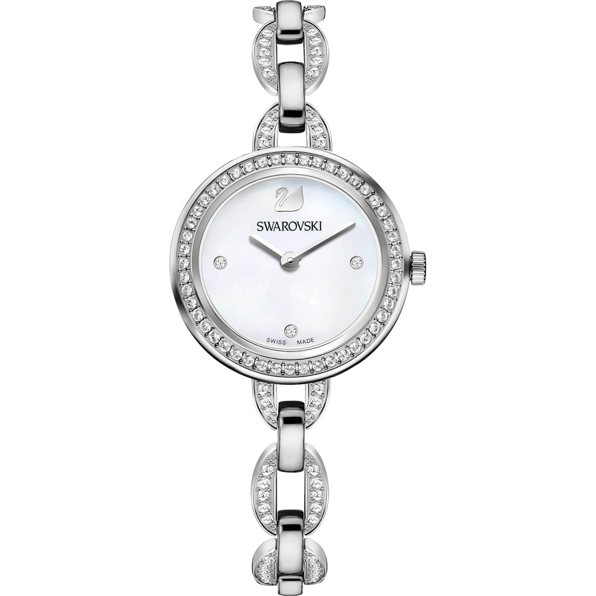 Swarovski Aila Mini Watch, Metal bracelet, Stainless steel