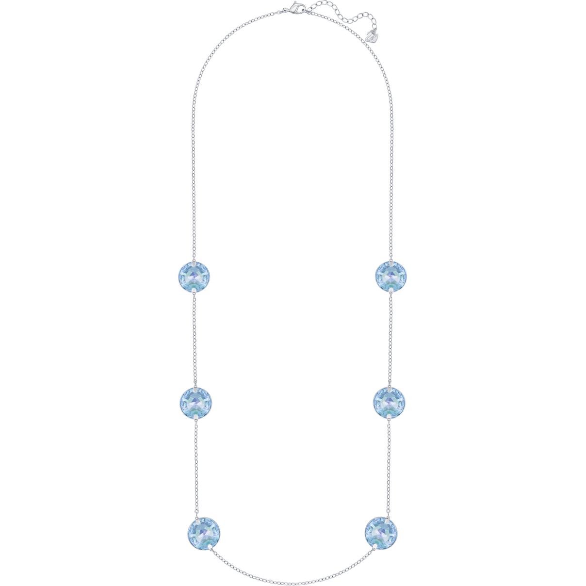 Swarovski Globe Strandage, Blue, Rhodium plating