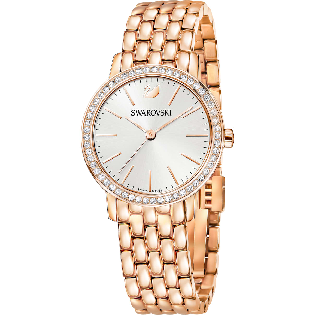 Swarovski Graceful Watch, Metal bracelet, Rose-gold tone PVD