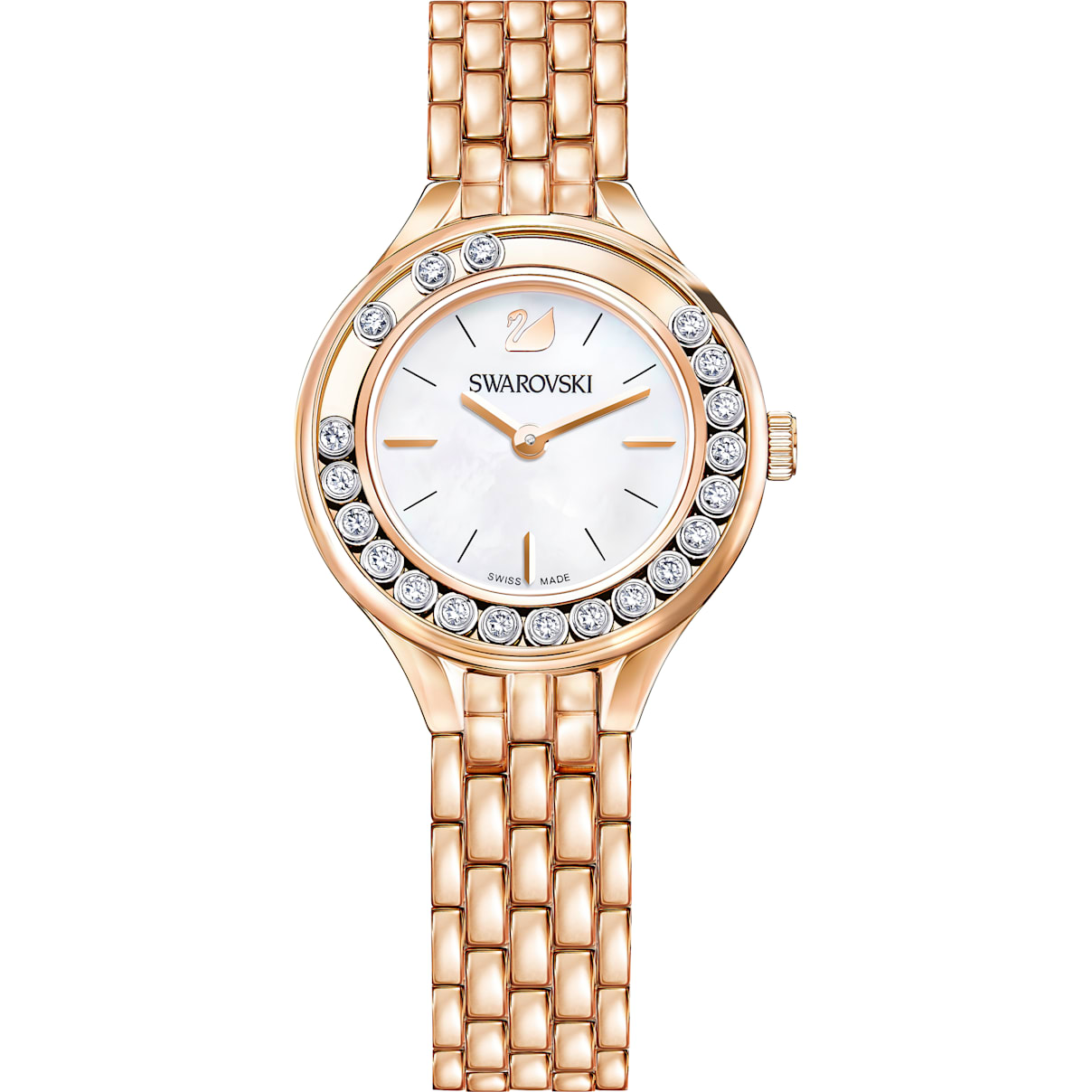 Swarovski Lovely Crystals Watch, Metal bracelet, Rose-gold tone PVD