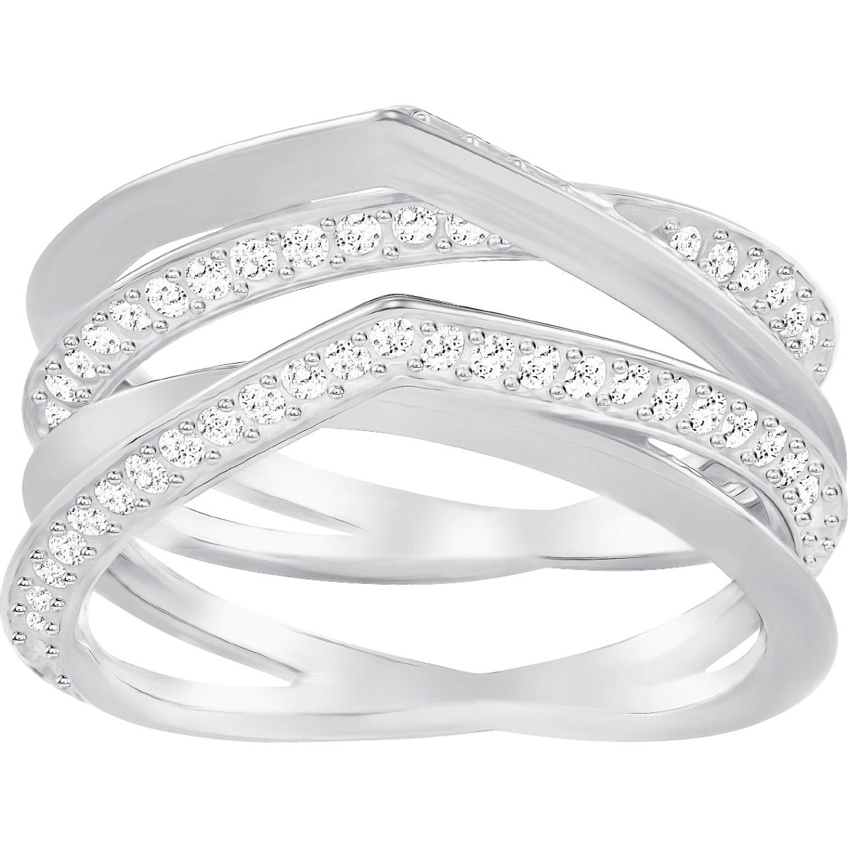 Swarovski Genius Ring, White, Rhodium Plating
