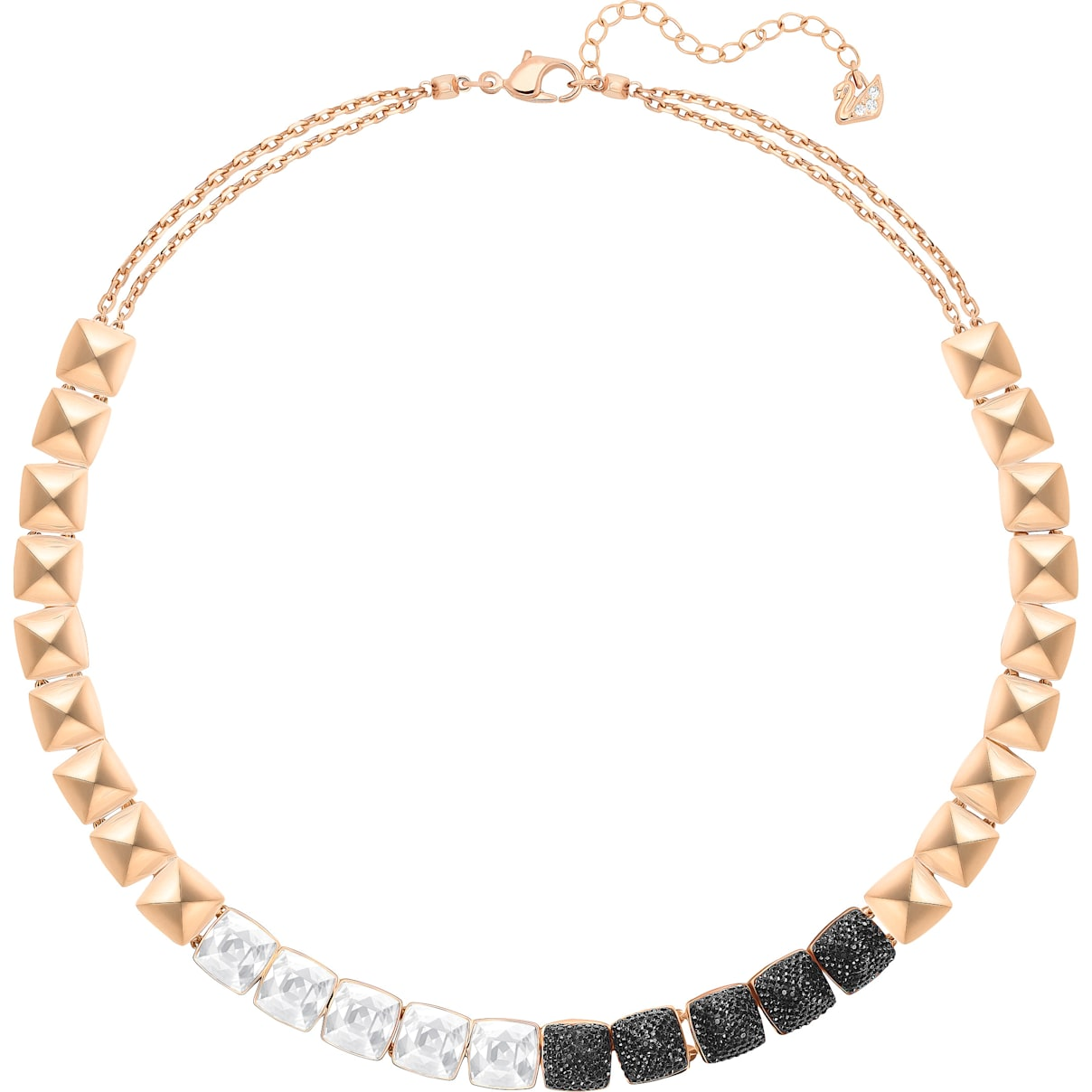 Swarovski Glance Necklace, Multi-colored, Rose-gold tone plated
