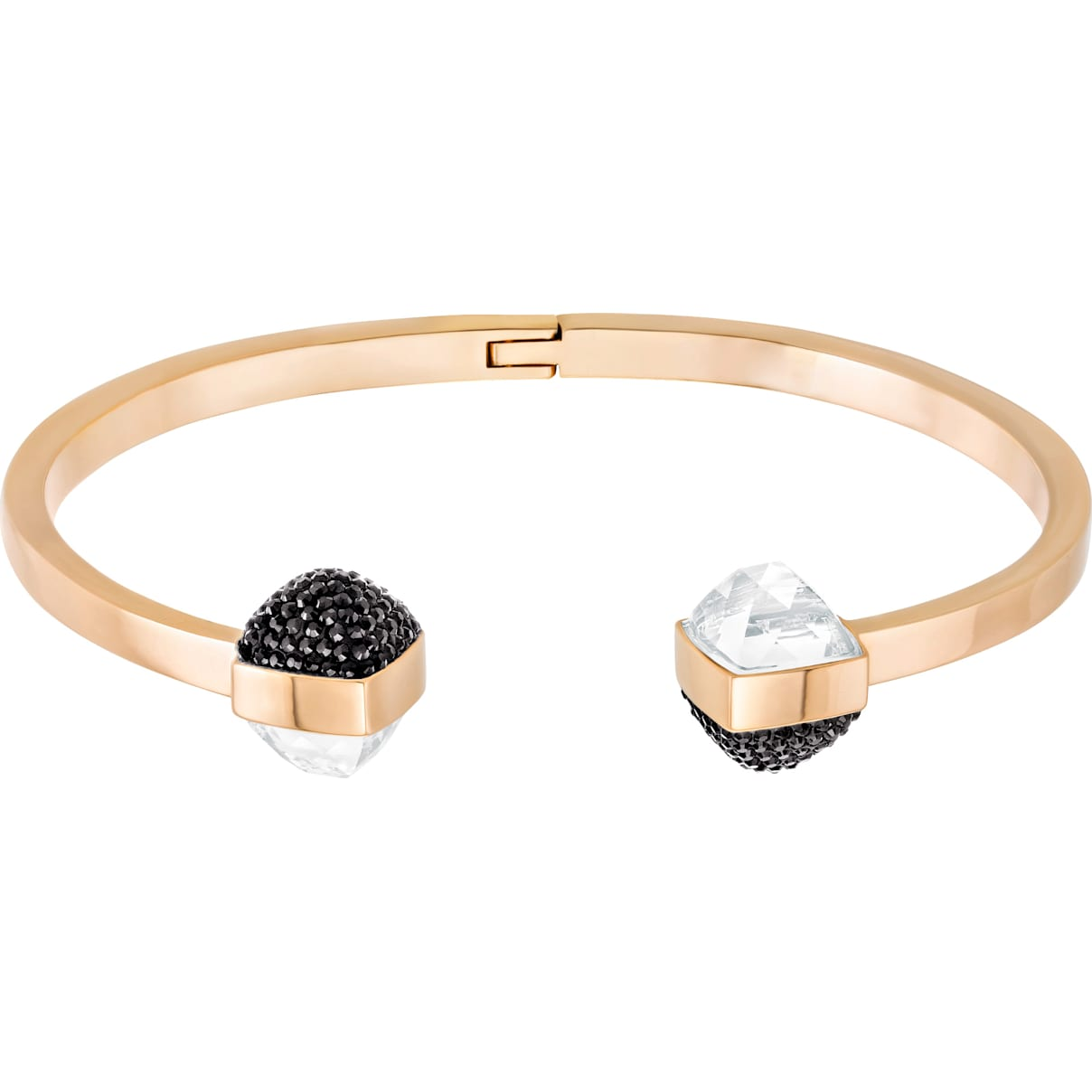Swarovski Glance Bangle, Multi-colored, Rose-gold tone plated