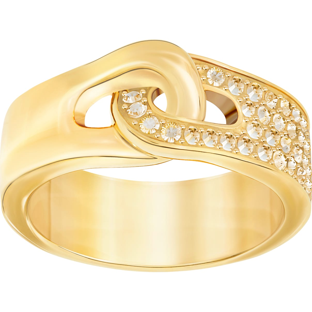 Swarovski Gallon Ring, Golden, Gold-tone plated