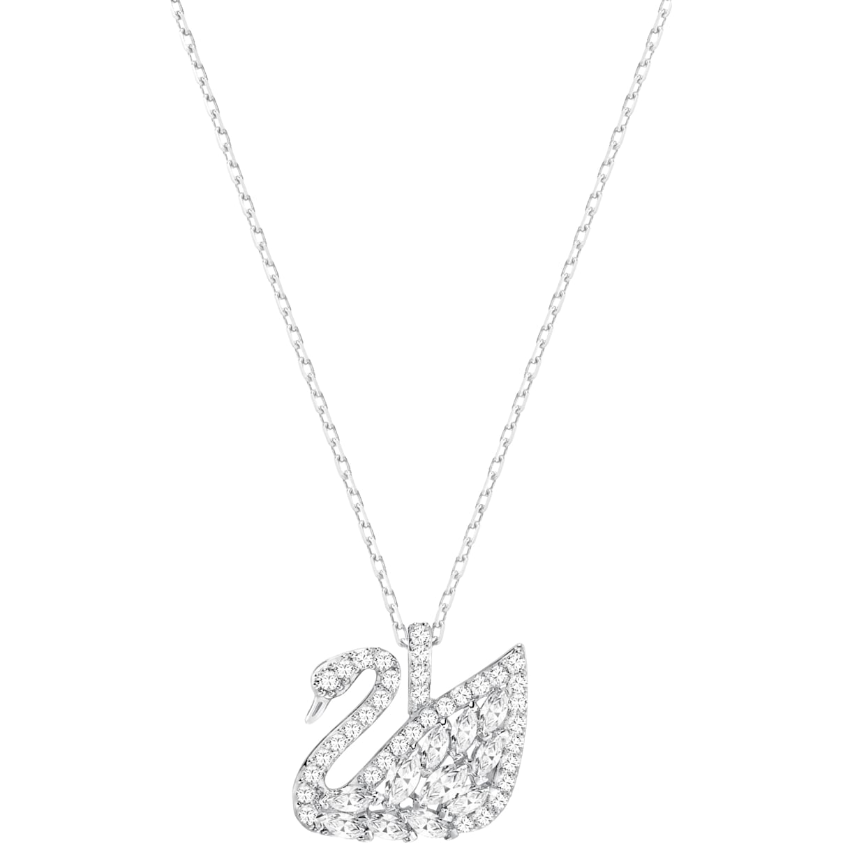 Swarovski Swan Lake Pendant, White, Rhodium plated