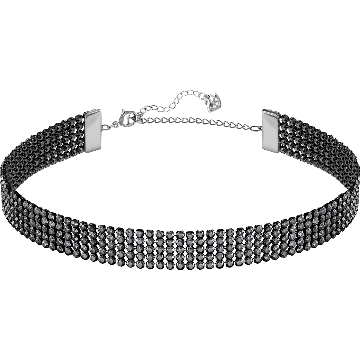 Swarovski Fit Necklace, Black, Ruthenium plated