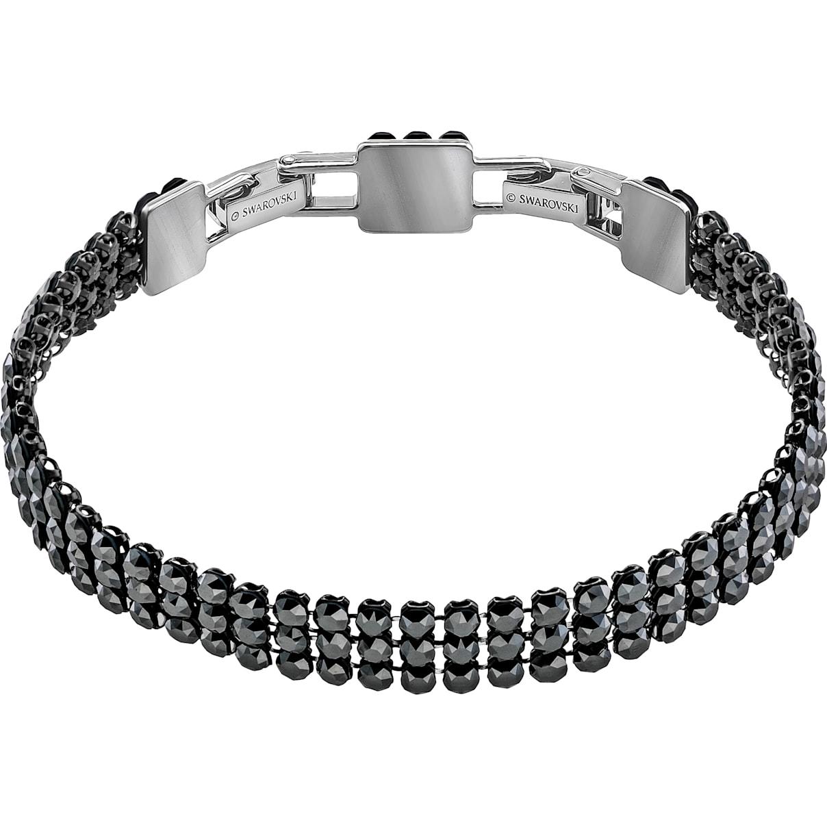 Swarovski Fit Bracelet, Black, Ruthenium plated