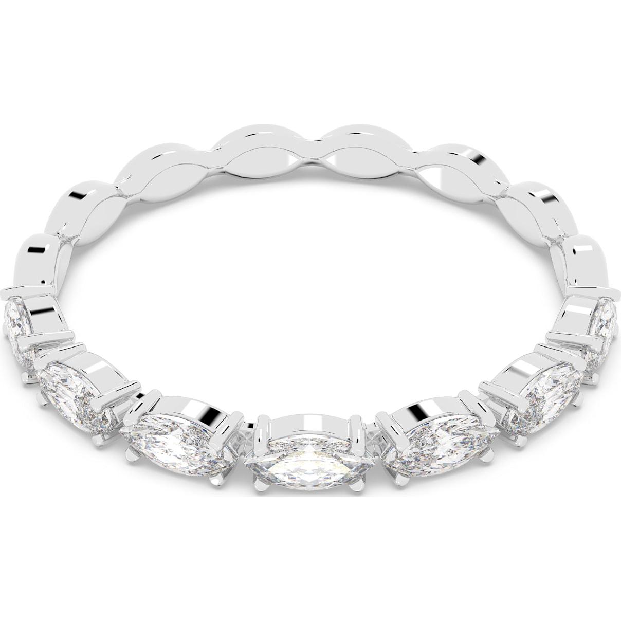 Swarovski Vittore Marquise Ring, White, Rhodium plated