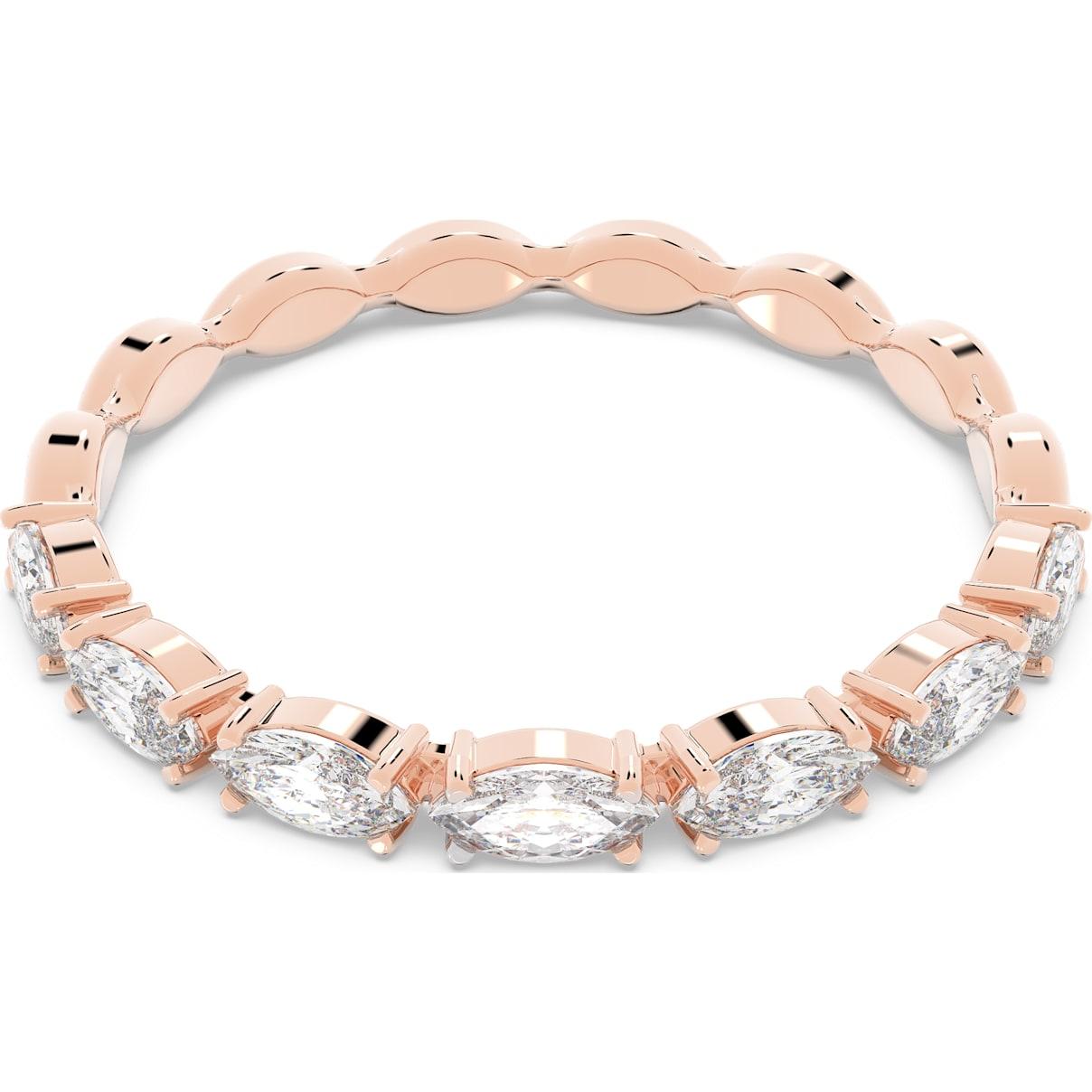 Swarovski Vittore Marquise Ring, White, Rose-gold tone plated