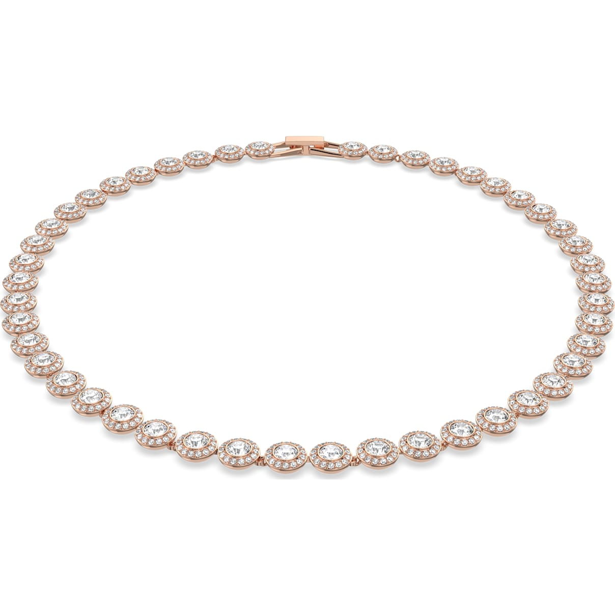 Swarovski Angelic Necklace, White, Rose-gold tone plated