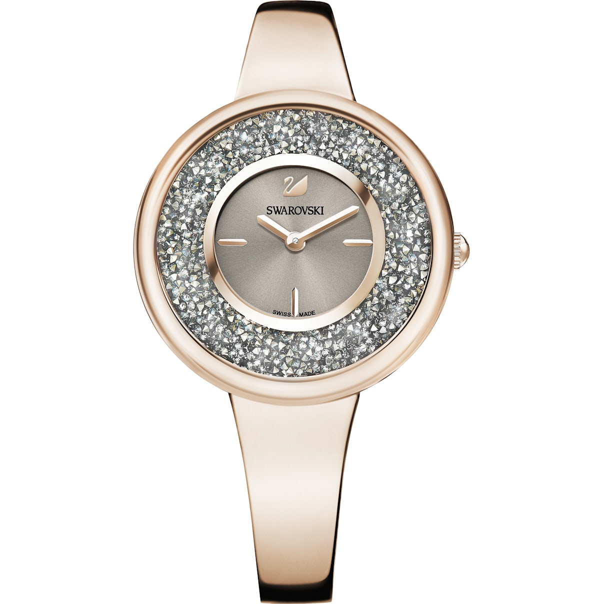 Swarovski Crystalline Pure Watch, Metal bracelet, Champagne-gold tone PVD