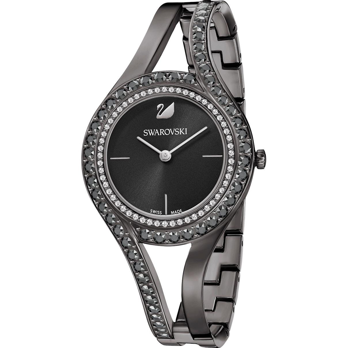 Swarovski Eternal Watch, Metal bracelet, Black, Gun-metal PVD