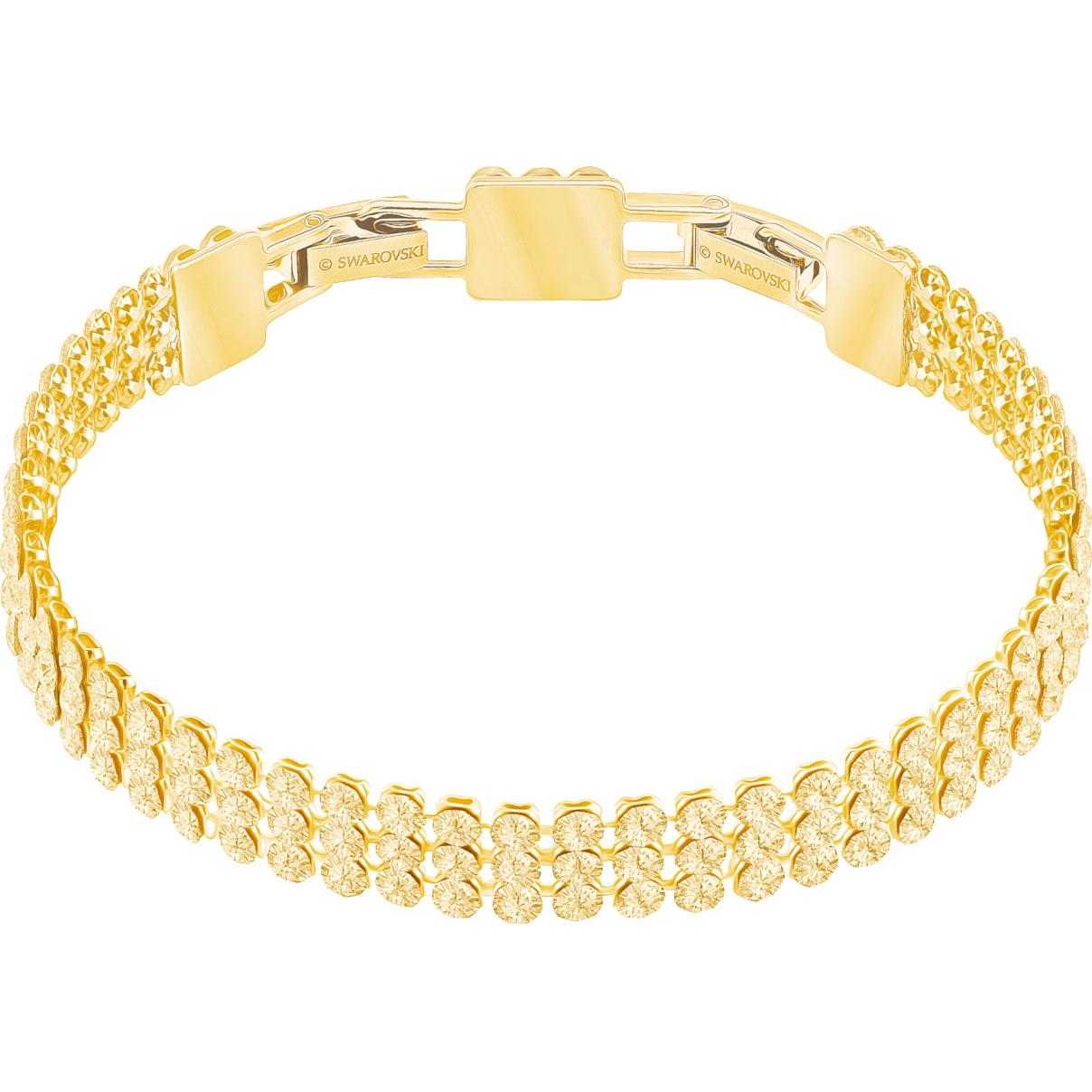 Swarovski Fit Bracelet, Golden, Gold-tone plated