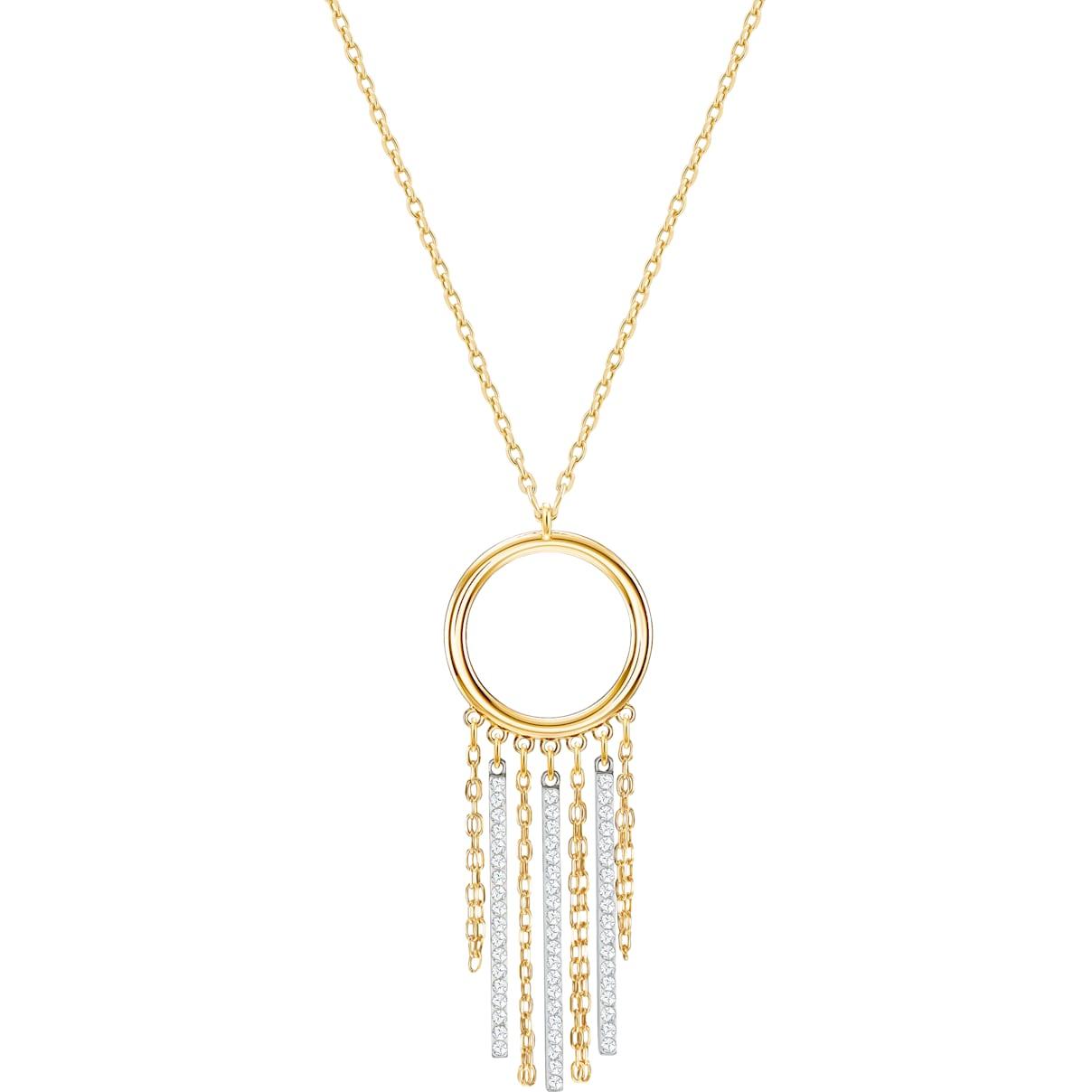 Swarovski Lyrebird Circle Necklace, White, Mixed plating