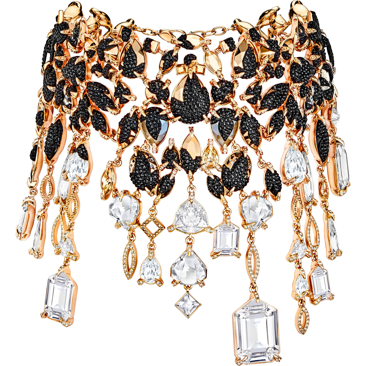 Swarovski Manor Necklace, Multi-colored, Rose-gold tone plated
