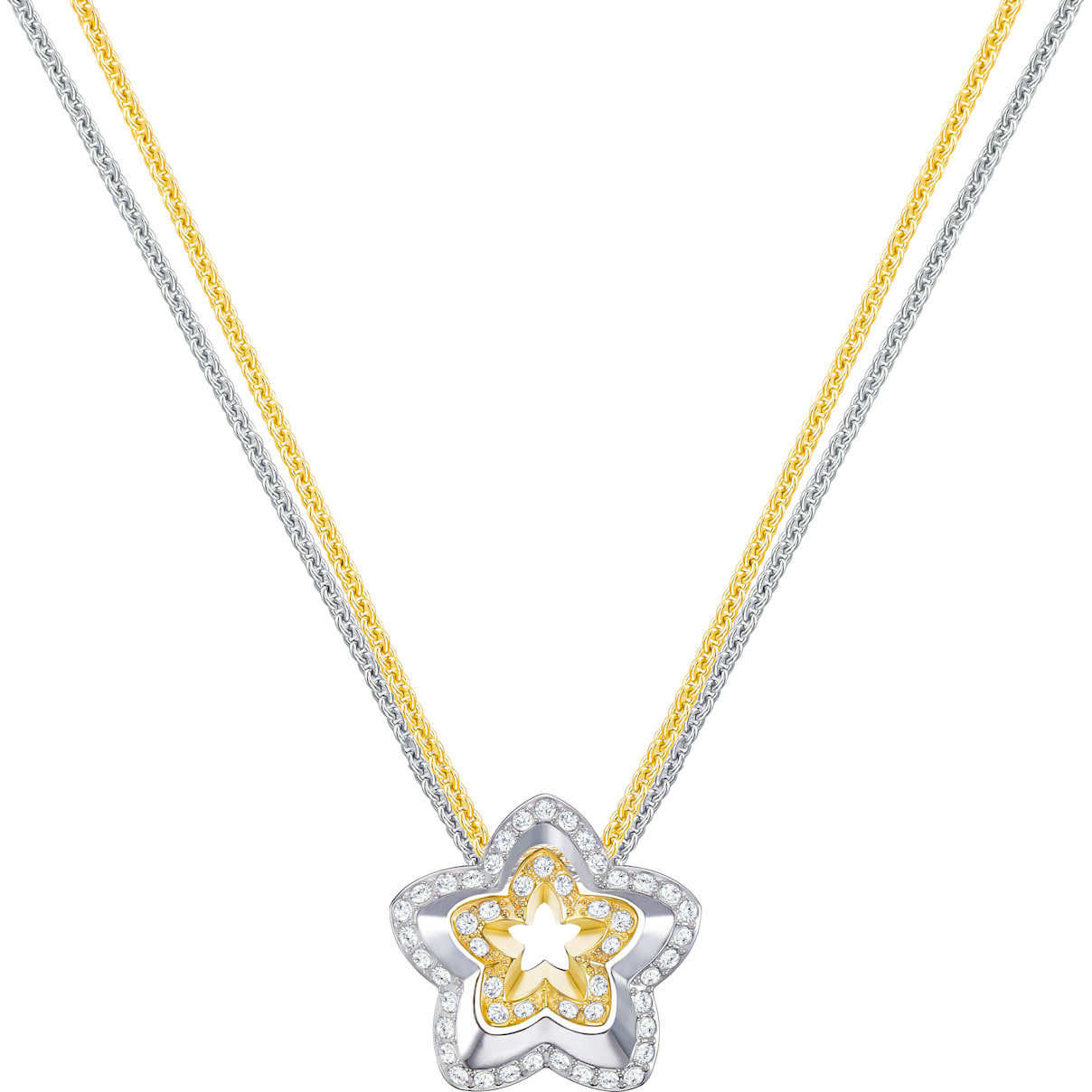 Swarovski Lovesome Flower Pendant, White, Mixed plating