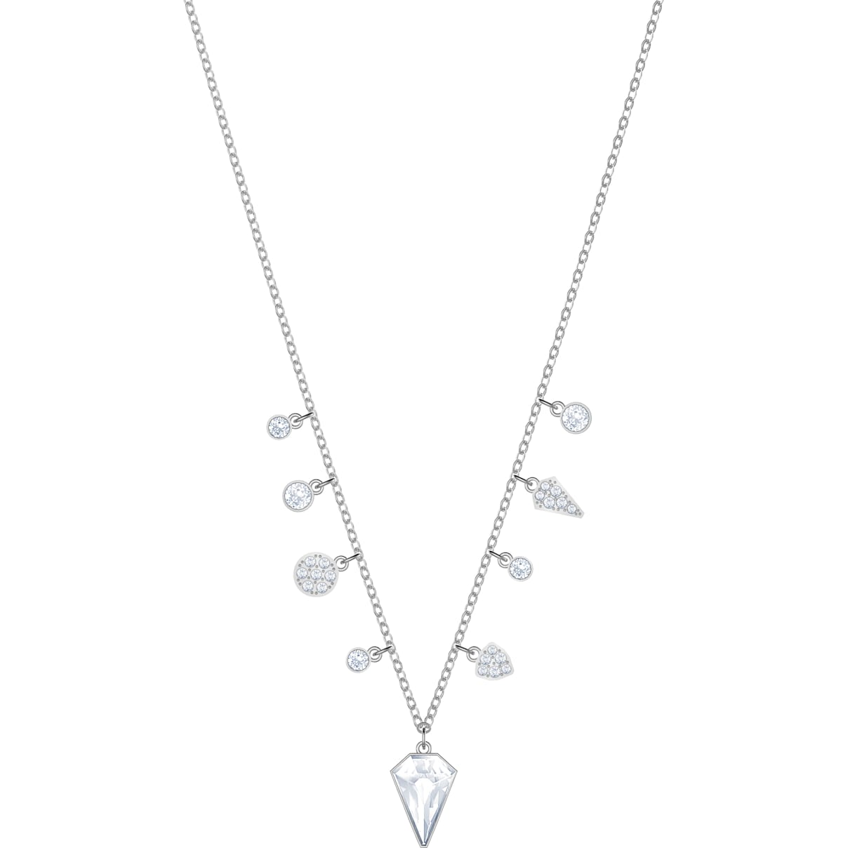 Swarovski Lucy Kite Choker, White, Rhodium plating