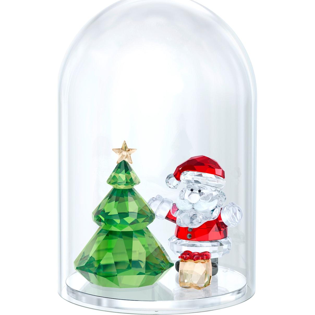 Swarovski Bell Jar - Christmas Tree & Santa