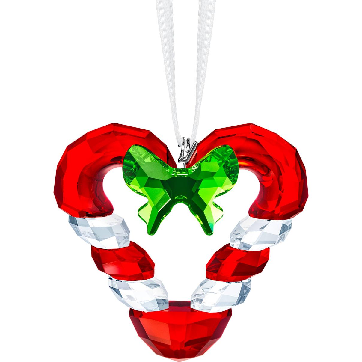 Swarovski Candy Cane Heart Ornament
