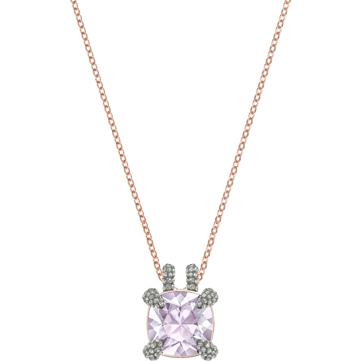 Swarovski Make Pendant, Violet, Rose-gold tone plated