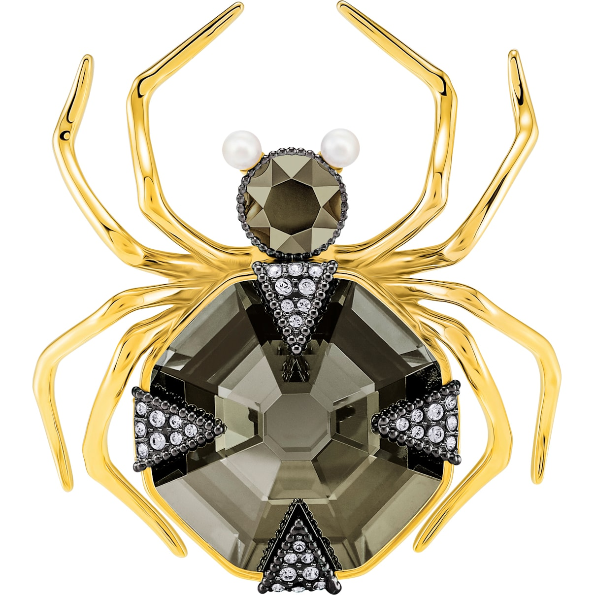 Swarovski Magnetic Brooch, Multi-colored, Mixed metal finish
