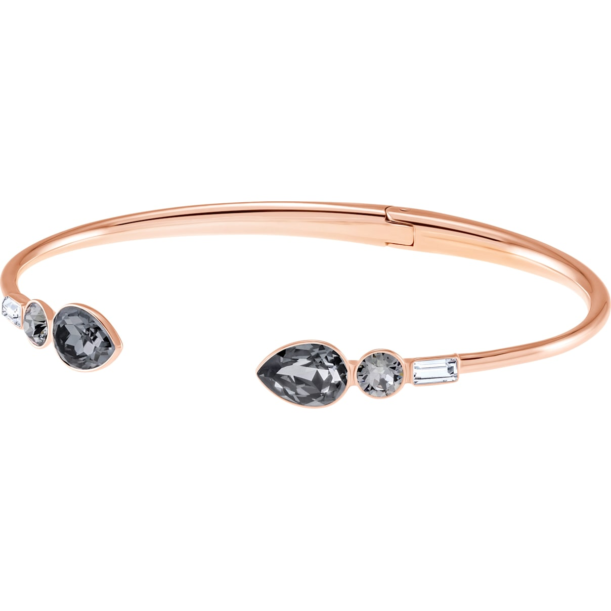 Swarovski Mix and Match Bangle, Multi-colored, Rose-gold tone plated
