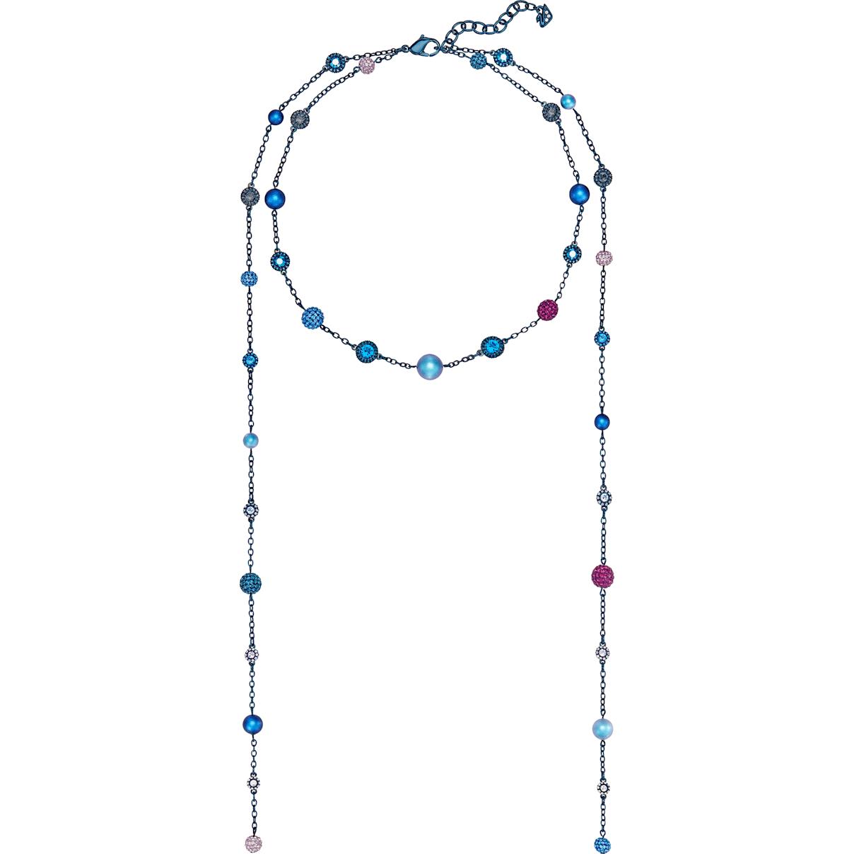 Swarovski Model Strandage, Multi-colored, Blue PVD coating
